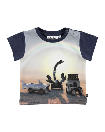 Eddie Black Rock Desert Short-Sleeve T-Shirt, Size 6-24 Months