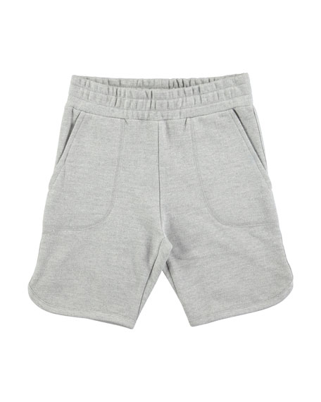 Molo Alberto Grey Melange Cotton-Blend Shorts, Size 4-10