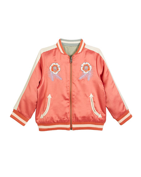Stella McCartney Kids Willow Embroidered Reversible Bomber