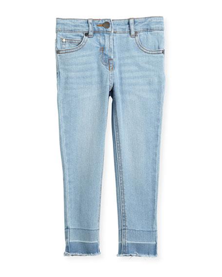 Stella McCartney Kids Nina Cut-Off Skinny Jeans, Size