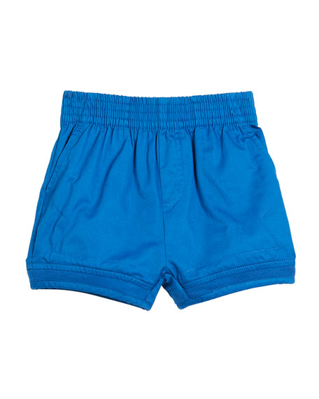 Stella McCartney Kids Mara Woven Shorts w/ Rib