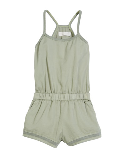 Aster Sleeveless Shorts Romper, Size 4-14