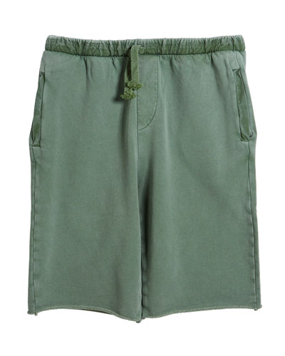 Cullen Cutoff Knit Shorts, Size 4-10