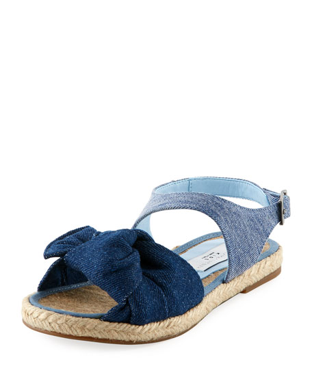 Stella McCartney Kids Rori Denim Espadrille Sandal, Toddler/Kid