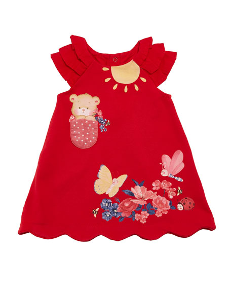 Mayoral Knit Little Bear Dress, Size 6-36 Months