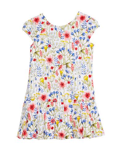 Floral Drop-Waist Dress, Size 12-36 Months