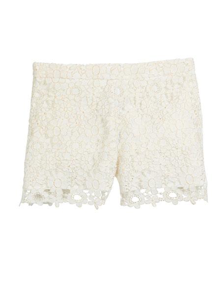 Lace Shorts, Size 8-16