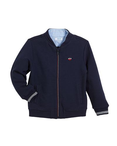 Zip-Up Fleece Jacket, Size 3-7