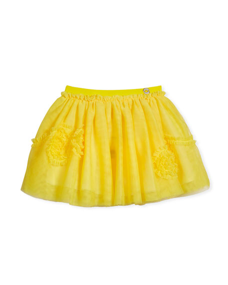 Ruffle-Trim Tulle Skirt, Size 3-7