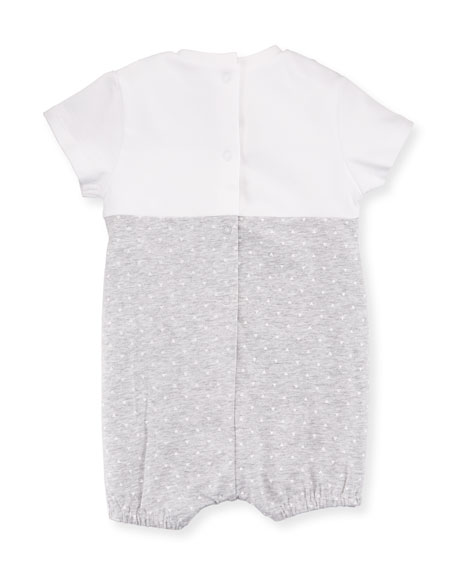 Knit Bunny Shortall Romper, Size 1-9 Months
