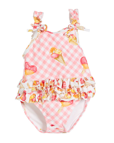 Mayoral Ice Cream One-Piece Swimsuit, Size 6-36 Months