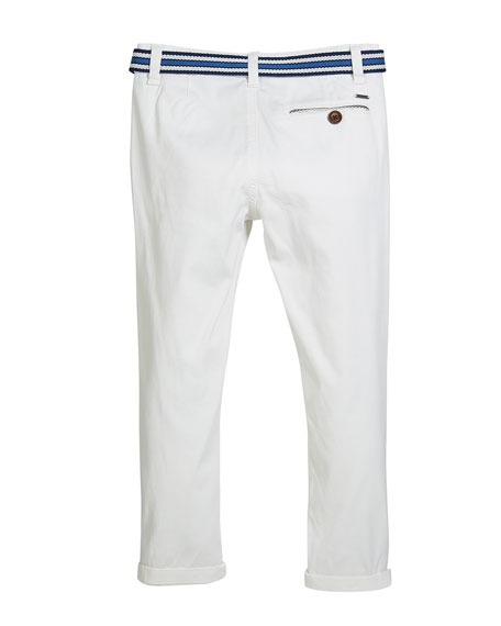 Chino Pants w/ Mesh Belt, Size 4-7
