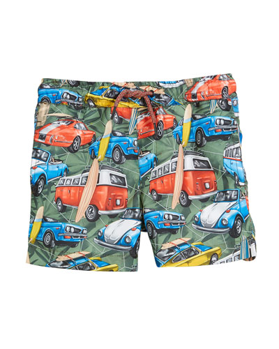 Surfboard Cars Swim Trunks, Size 3-7
