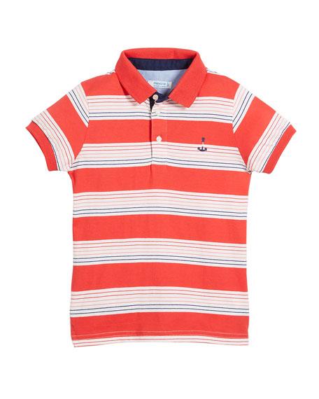 Short-Sleeve Multi-Stripe Polo, Size 4-7