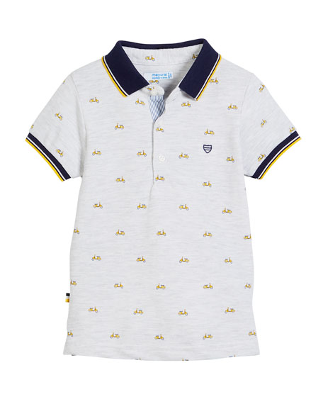 Short-Sleeve Scooter Polo, Size 12-36 Months