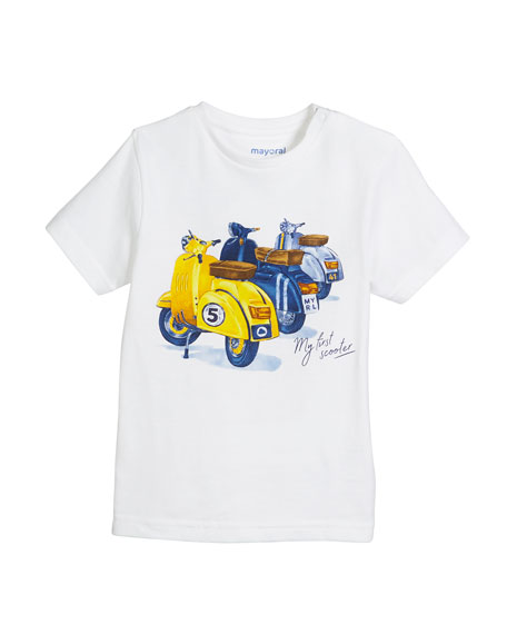 Short-Sleeve Scooter Graphic T-Shirt, Size 12-36 Months