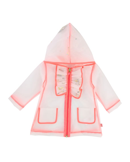 Transparent Sequin Raincoat, Size 12M-3T