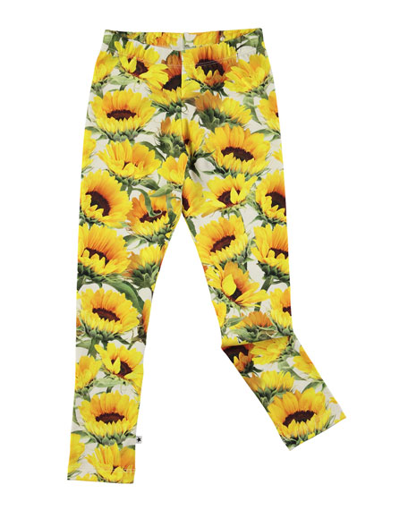 Niki Sunflower Jersey Stretch Leggings, Size 2-10