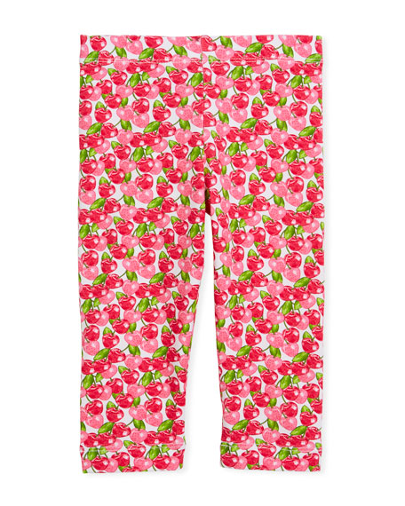 Cherry-Print Leggings, Size 3-7