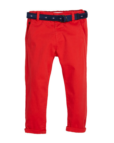 Chino Trousers w/ Fish Belt, Size 12-36 Months