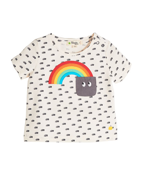 bonniemob Rainbow to Pocket Short-Sleeve Printed T-Shirt, Size