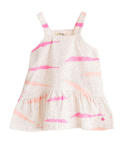Wave-Print Sun Dress, Size 6-24 Months