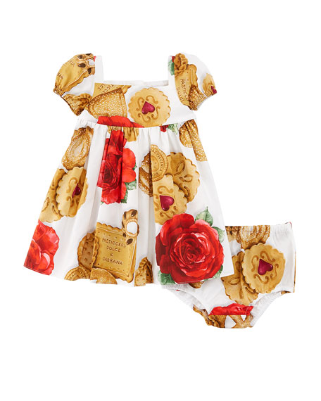 Dolce & Gabbana Biscuit & Roses Dress w/