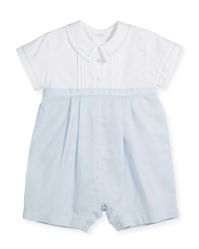 Two-Tone Collared Playsuit, Size 3-24 Months