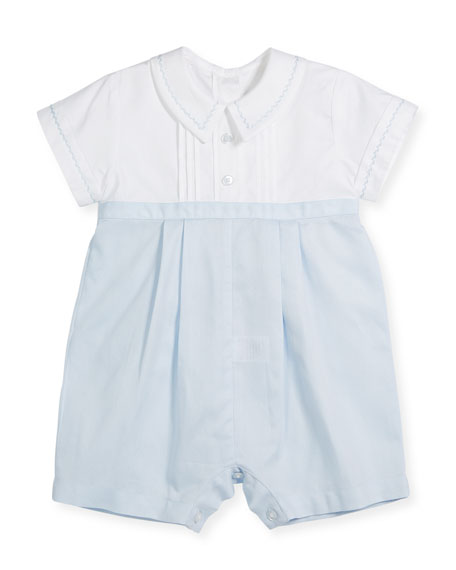 Kissy Kissy Two-Tone Collared Playsuit, Size 3-24 Months