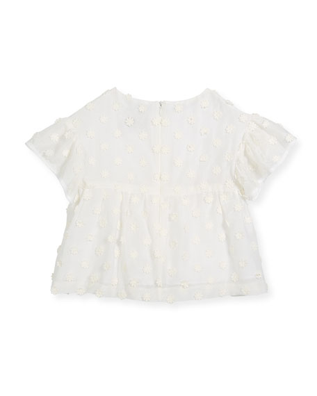 Lindy Daisy-Embroidery Blouse, Size 8-16