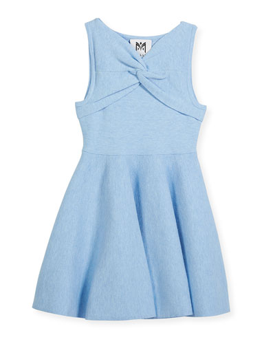 Twist Flare Sleeveless Dress, Size 8-14