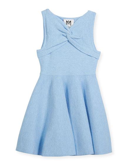 Twist Flare Sleeveless Dress, Size 8-14
