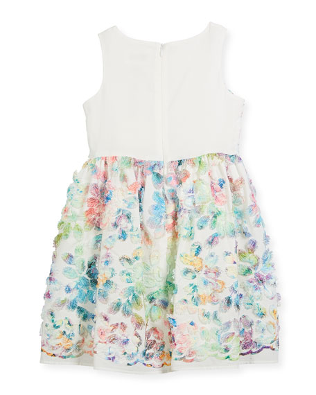 Watercolor Floral Sleeveless Dress, Size 5-8