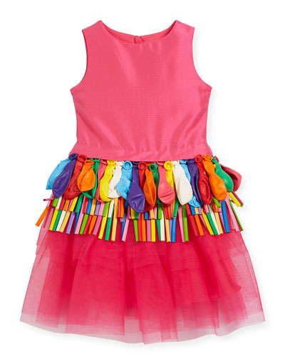 Sleeveless Tulle Balloon Dress, Size 10-12