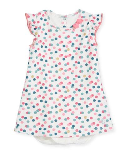 Polka-Dot Bodysuit Dress, Size 3-24 Months