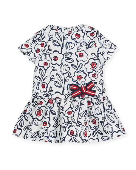 Short-Sleeve Cotton Floral Dress, Size 3-36 Months