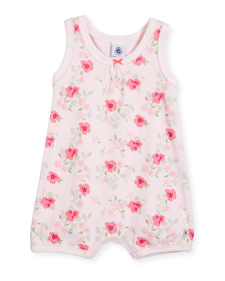 Petit Bateau Sleeveless Floral-Print Playsuit, Size Newborn-6