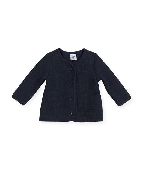 Cotton-Blend Knit Cardigan, Size 3-36 Months