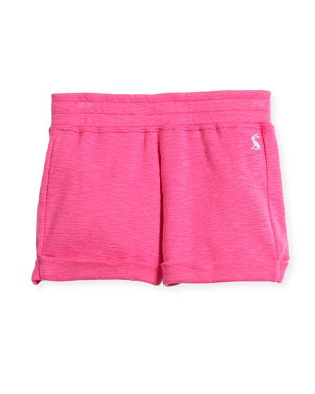 Heathered Cotton Shorts, Size 3-10