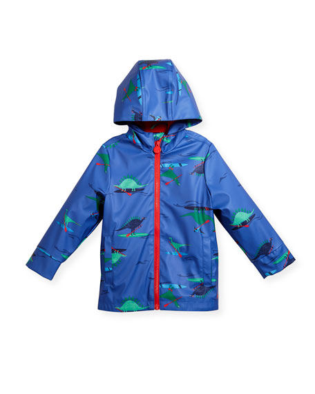 Hooded Dino Rain Coat, Size 3-6