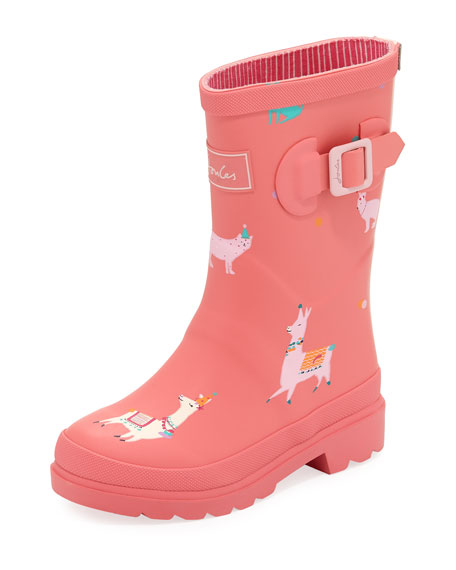 Joules Llama Rubber Rain Boot, Toddler/Kid