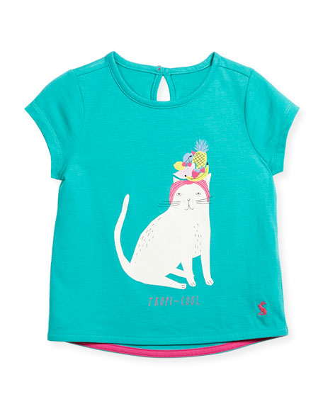 Tropi-Cool Cat T-Shirt, Size 3-6