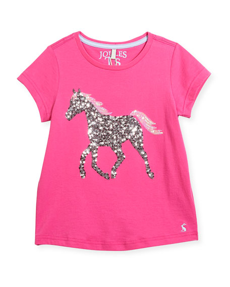 Sequin Horse T-Shirt, Size 3-10