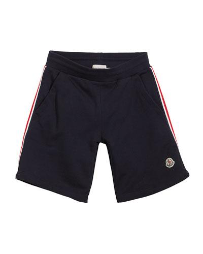 Cotton Sweat Shorts w/ Flag Sides, Size 8-14