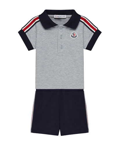 Short-Sleeve Polo w/ Shorts, Size 12M-3T