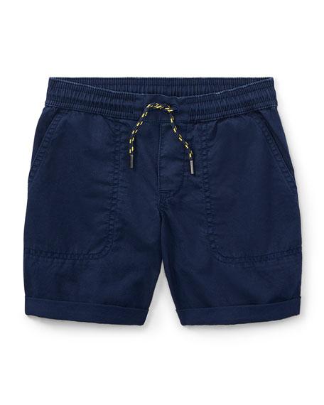Cotton Twill Parachute Shorts, Size 2-4