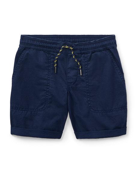 Cotton Twill Parachute Shorts, Size 5-7