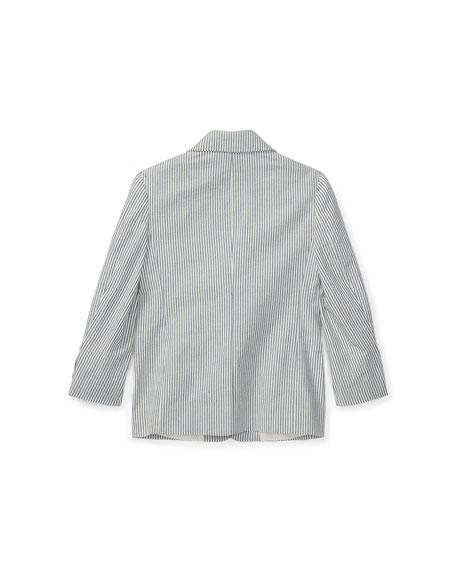Seersucker Cotton Blazer, Size 4-7