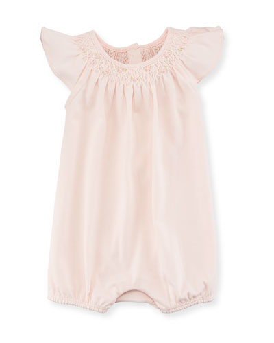 Interlock Smocked Bubble Playsuit, Size 3-18 Months