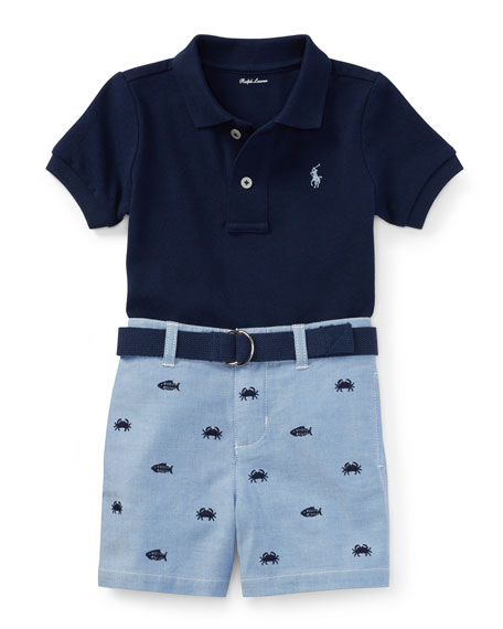 Ralph Lauren Childrenswear Basic Mesh Polo Shirt w/